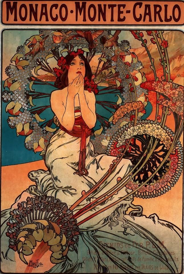 Monte Carlo, 1897, Alphonse Mucha
